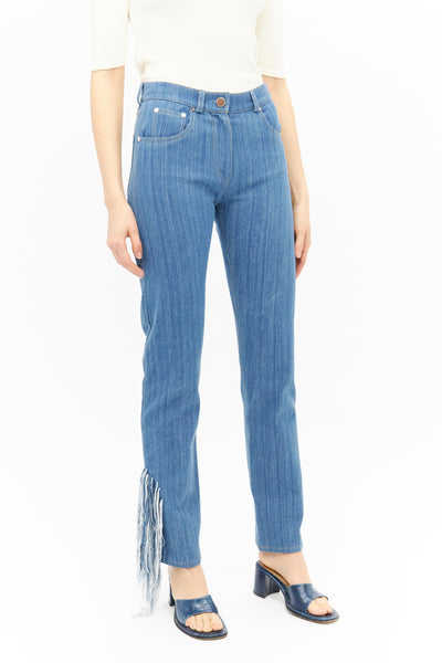 Handwoven Cotton Jeans-50m London