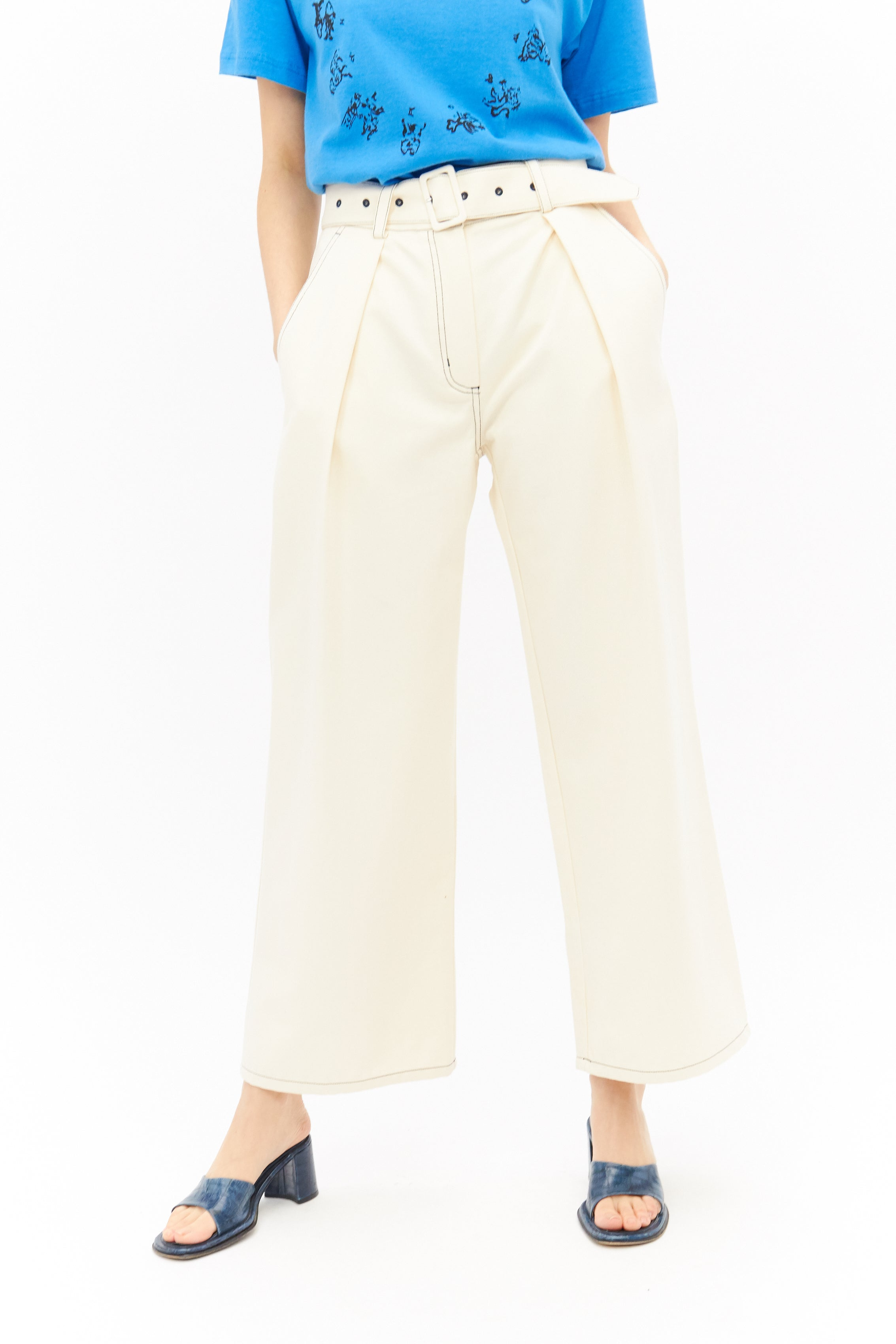 Cotton Paper Bag Trousers