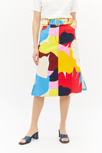 Multi Print Midi Skirt-50m London