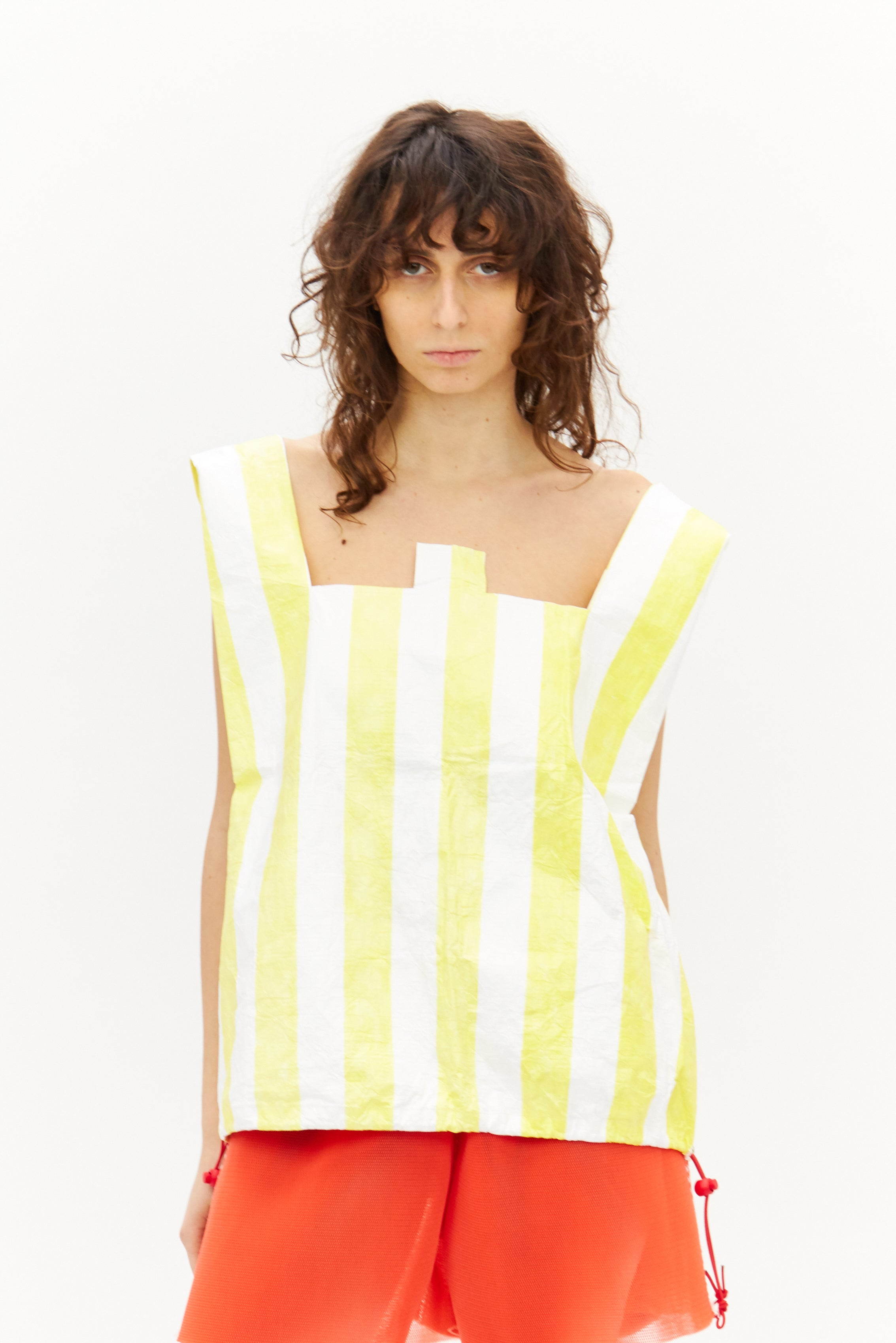 Yellow Stripe Top/Bag