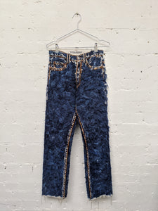 Hand Felted Denim Jeans-50m London