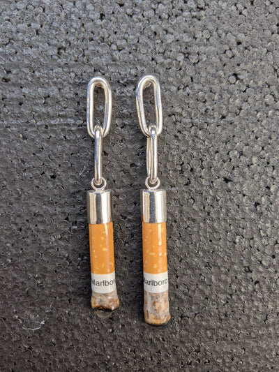 Cigarette Butt Earrings-50m London