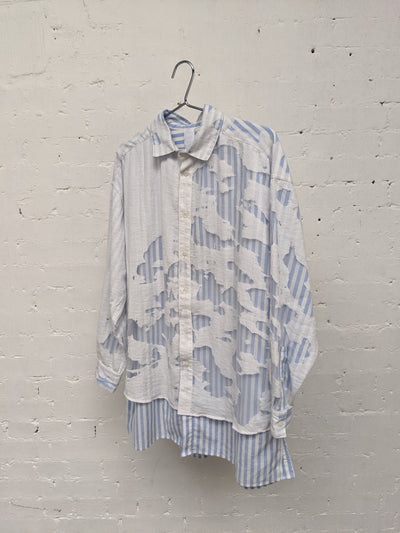 Pinstripe Devore Shirt-50m London