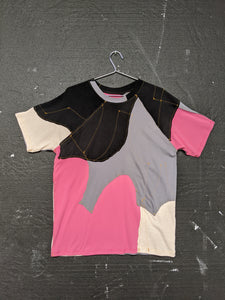 Upcycled One-off Short Sleeve T-shirt 24-50m London