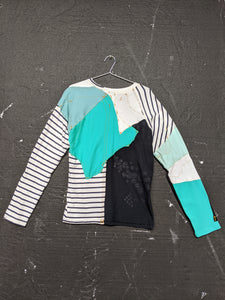 Upcycled One-off Long Sleeve T-shirt 13-50m London