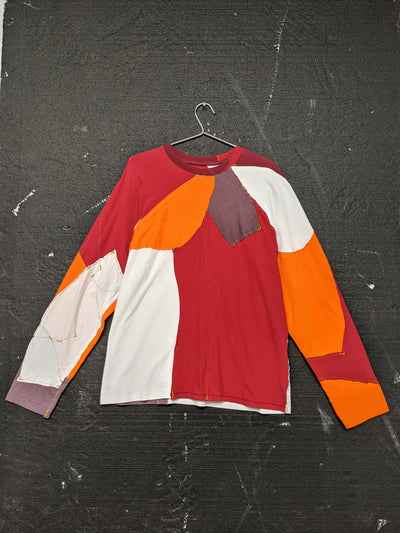 Upcycled One-off Long Sleeve T-shirt 17-50m London