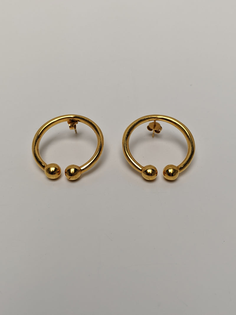 Bull Horn Earrings-50m London