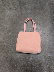 Peach Crushed Velvet Little Bag-50m London
