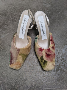 Square Toe Carpet Mules
