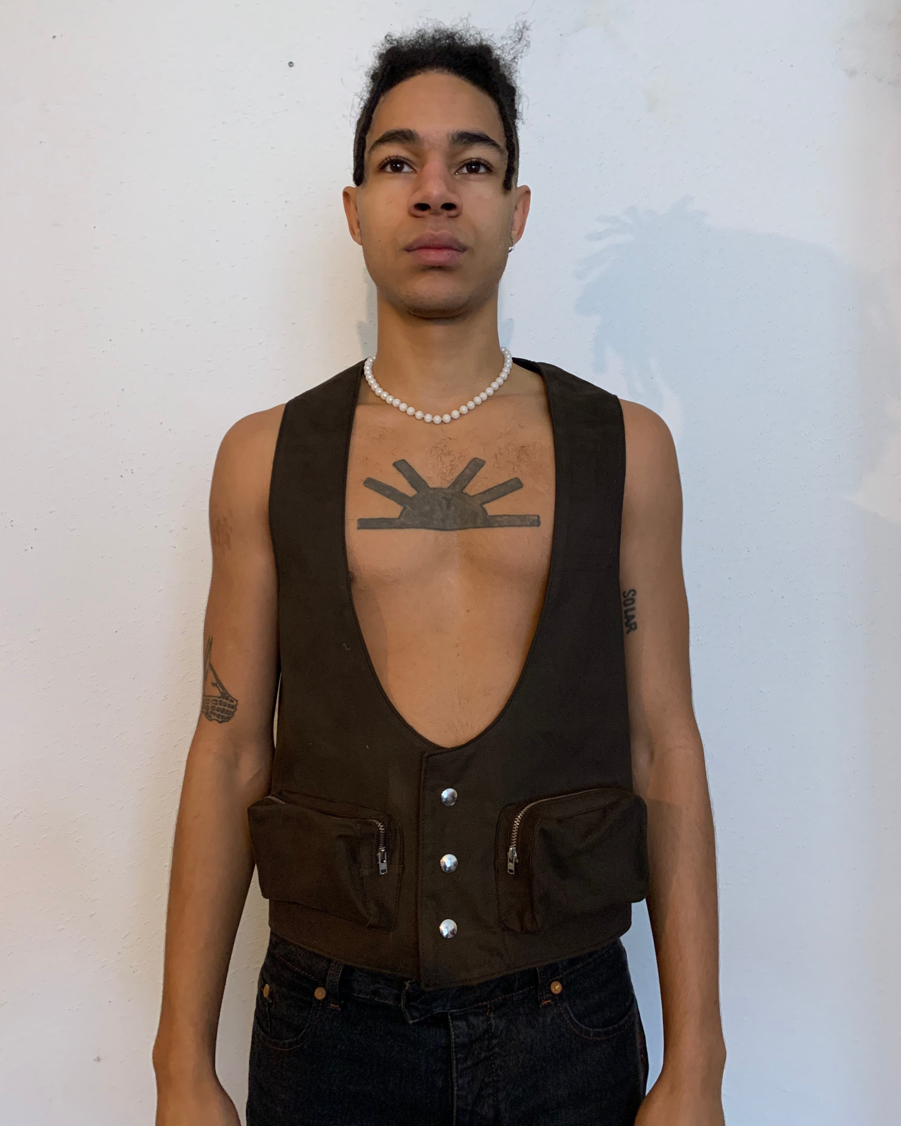 Brown Cowboy Vest-50m London