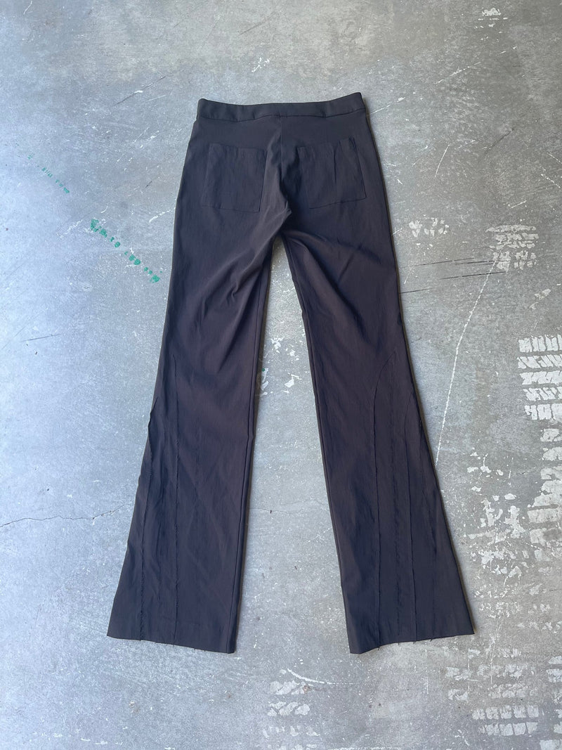 MID RISE SPLICED PANT (BLACK/BLACK)