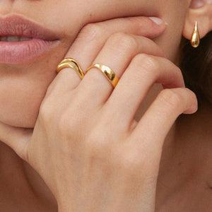 Large Wave Ring Gold