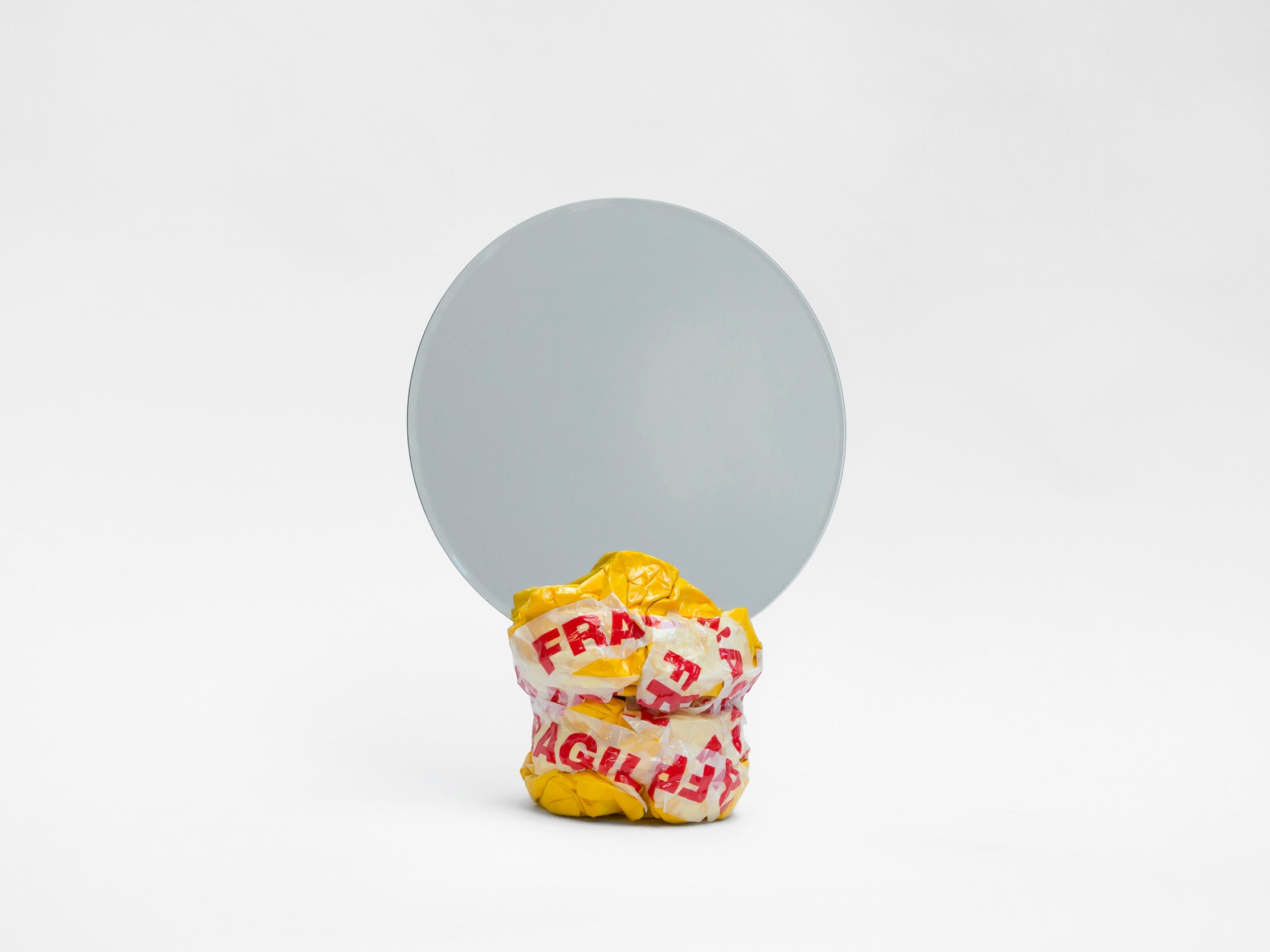 Large Mirror - Yellow with Fragile Tape