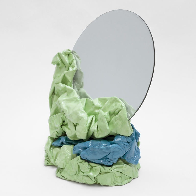 Large Mirror - Green & Blue