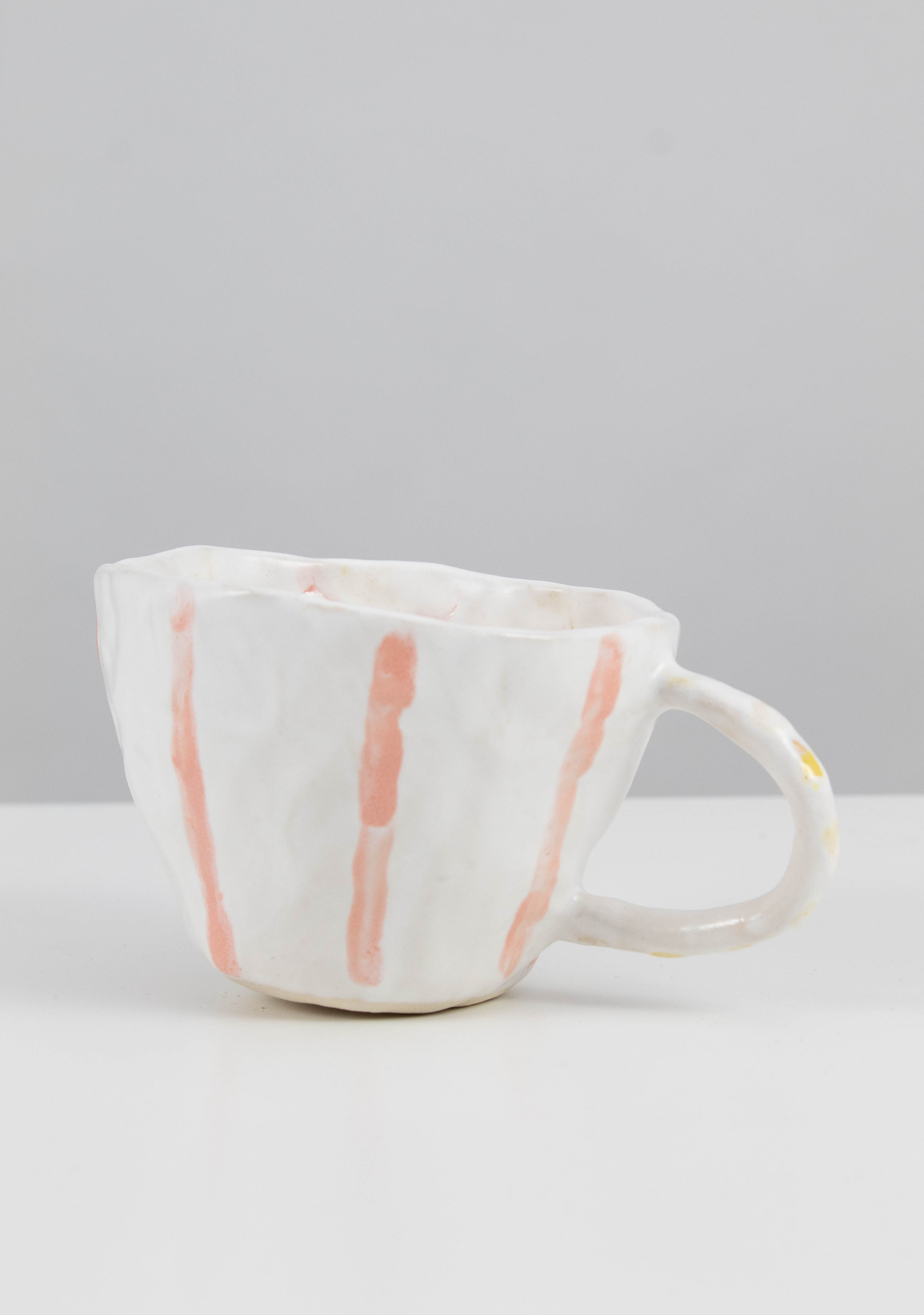 Large Orange Stripe Cup
