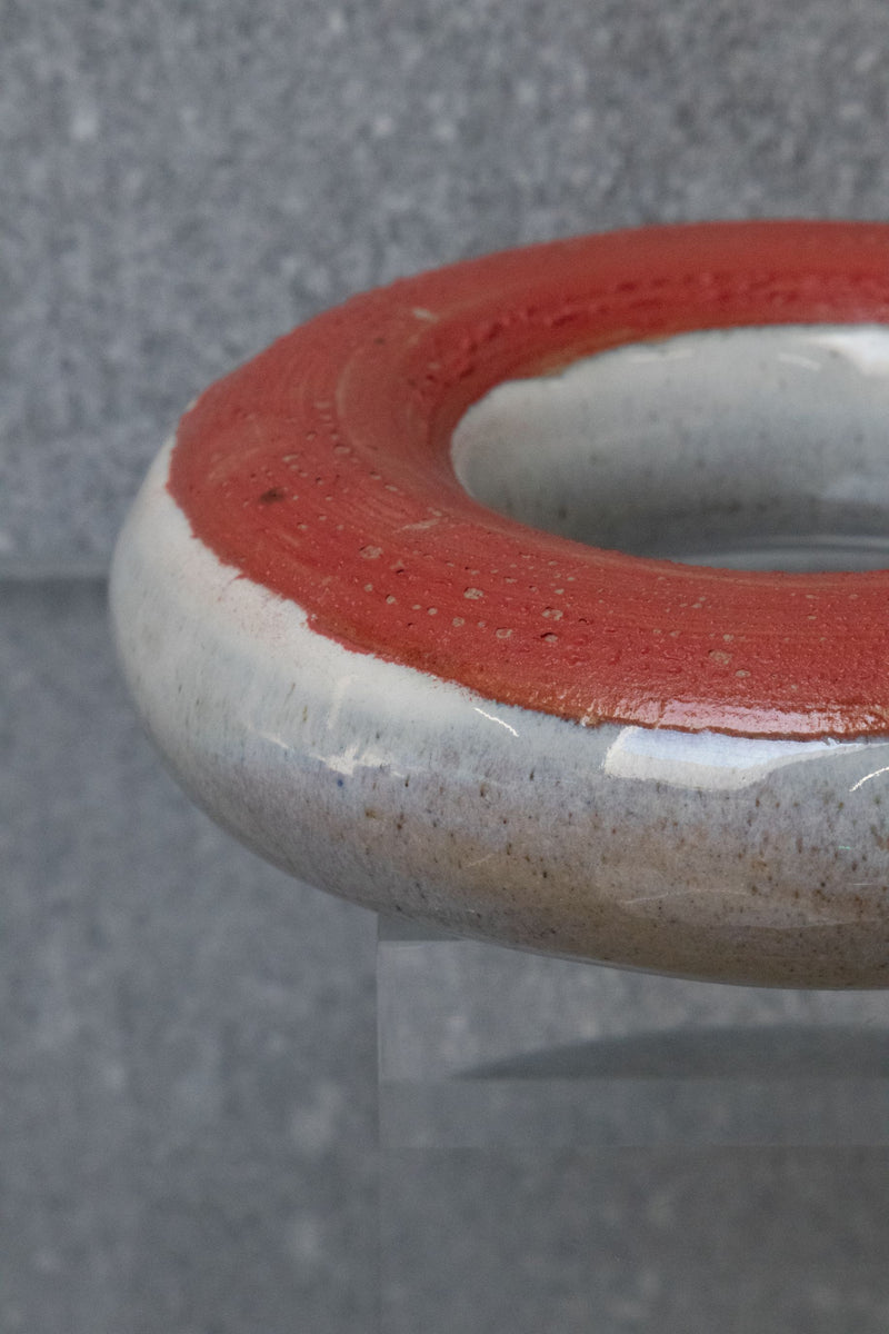 Large red Circular Ceramic Sculpture