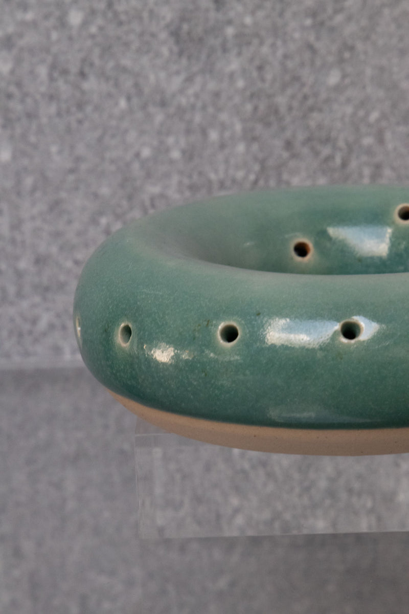 Green & Natural Circular Ceramic Sculpture