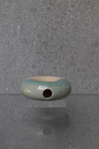 Half Glazed Circular Ceramic Sculpture