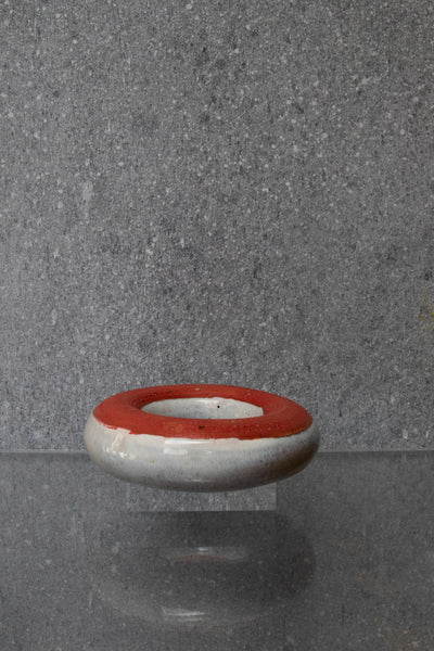 Red Circular Ceramic Sculpture Medium