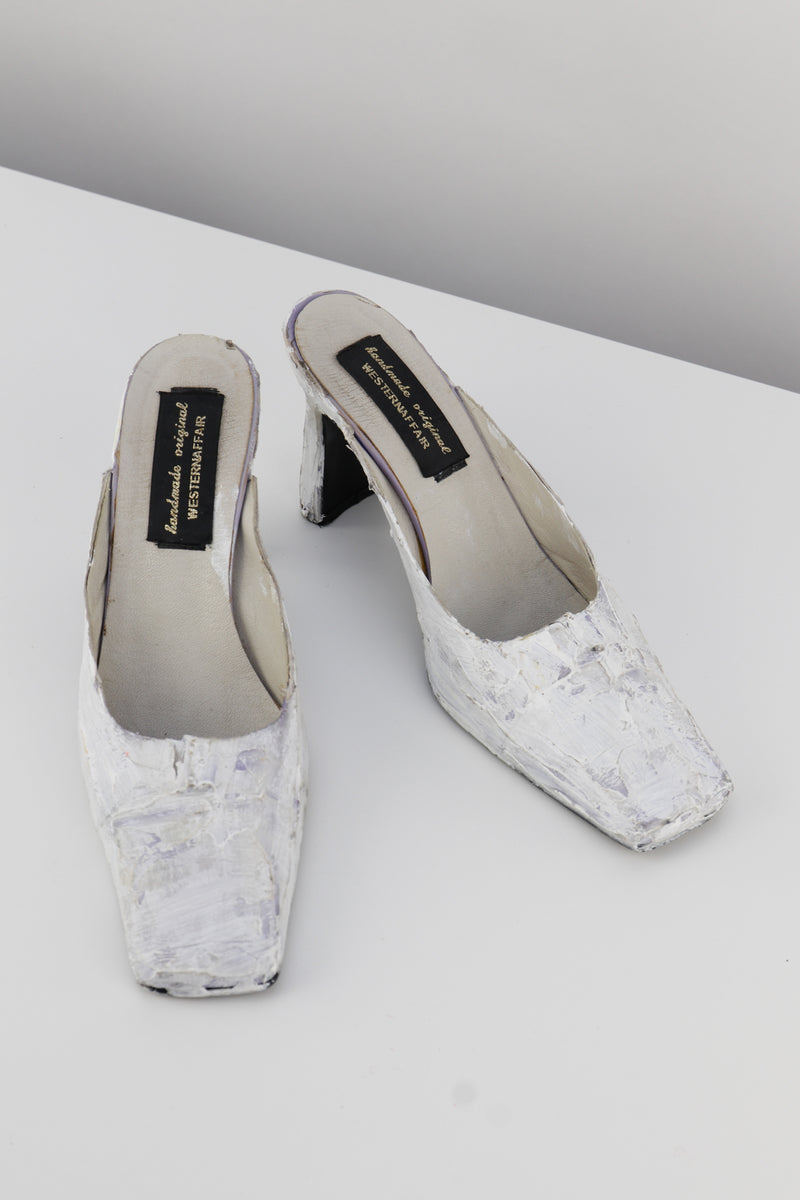 White Paint Mules