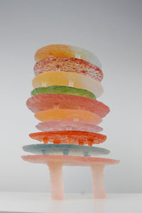 Two Colored Resin Tray Orange Medium