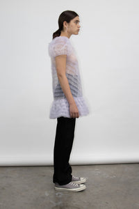 Baby Doll Ruffle Tulle Dress Lilac