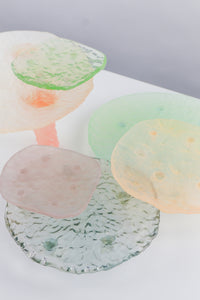 Resin Tray Glass Cast Light Pink