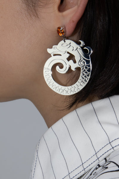 Aoki Palladium Earrings