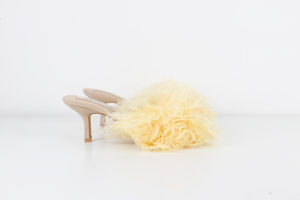 Yellow Sheepskin Mules