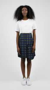 Quilted Plaid Skirt-50m London
