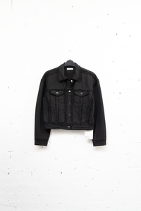 Double Frayed Jacket Black