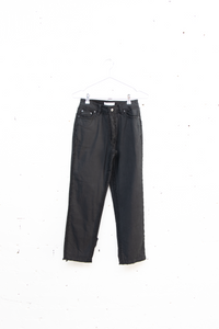 Double Frayed Jeans Black