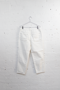 Double Frayed Jeans White