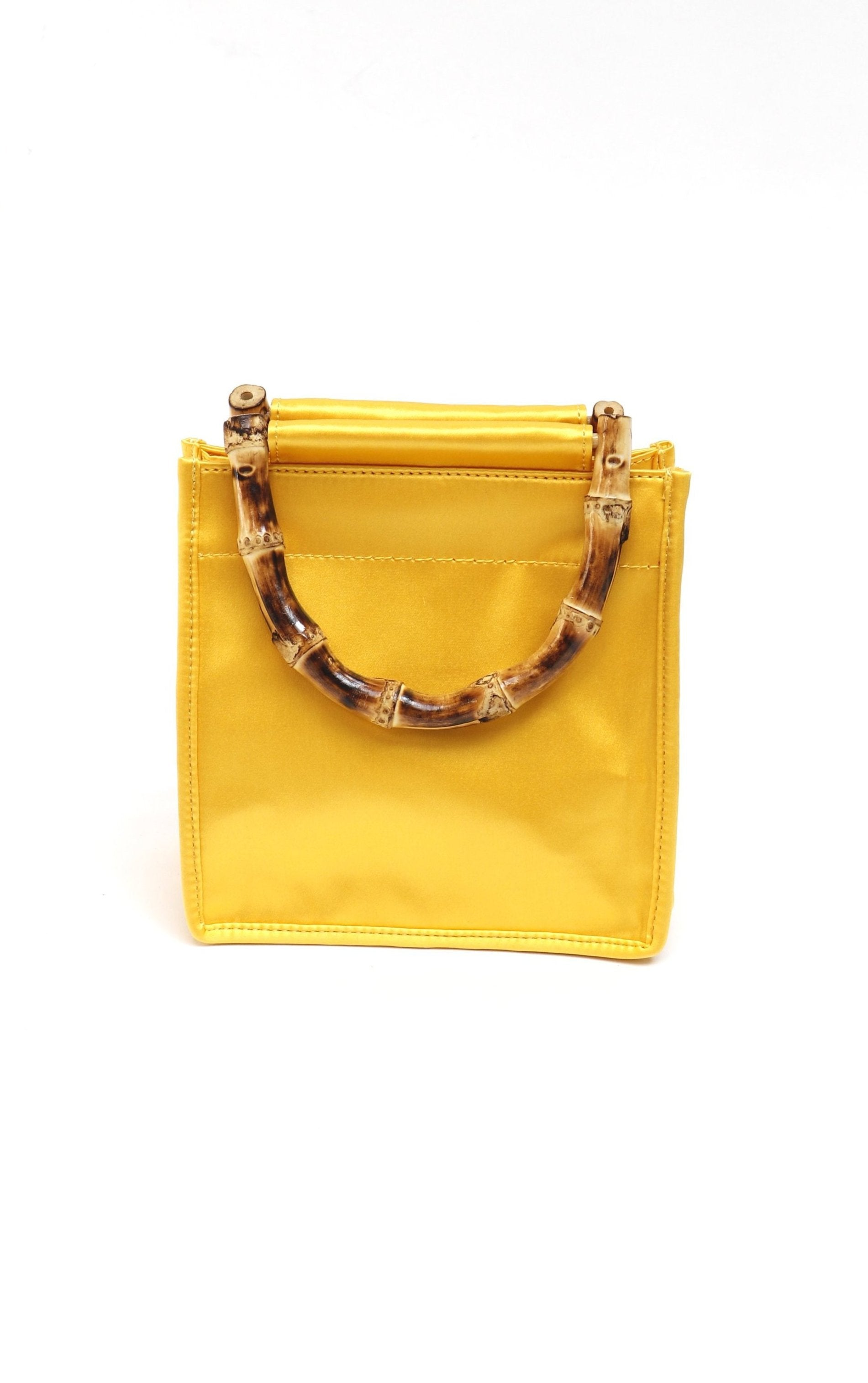 Yellow Silk Bamboo Bag