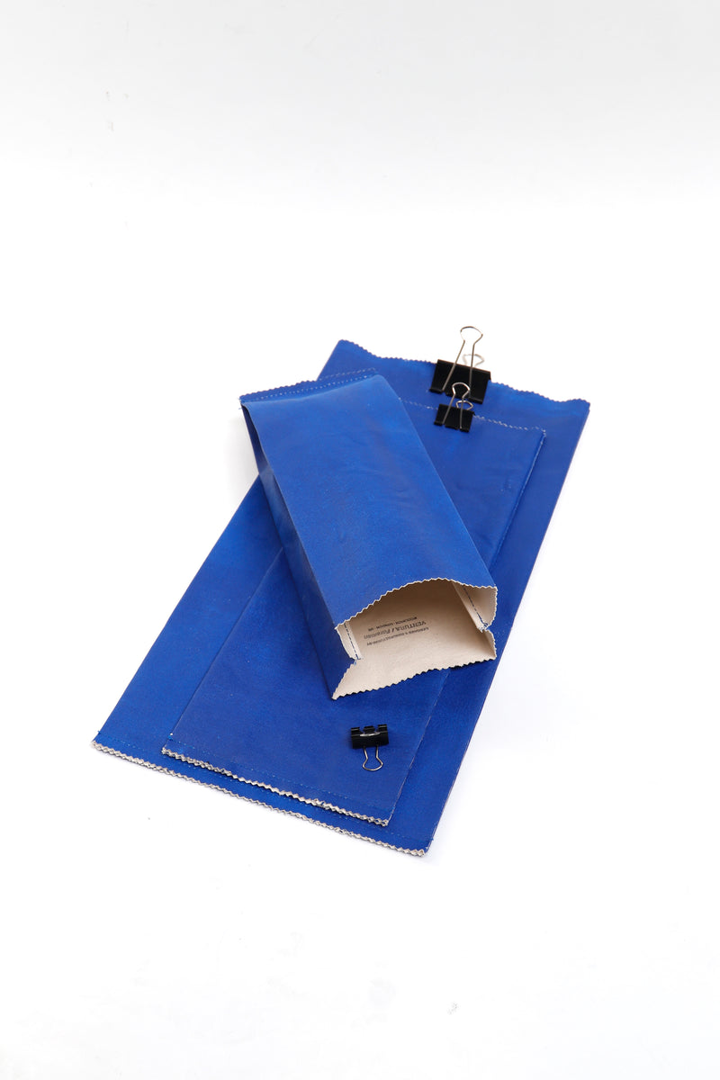 Bellow Bags Blue - set of 3