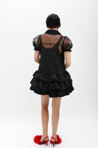 Rose Jacquard Baby Doll Dress-50m London