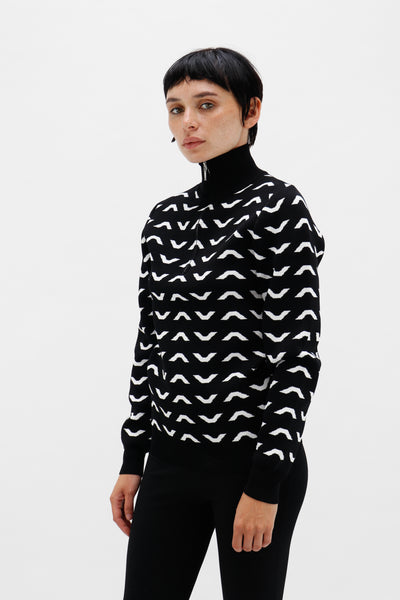 Half Zip Knitted Jumper-50m London