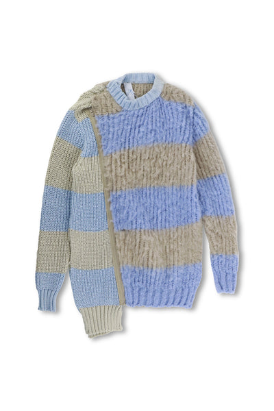 Deconstructed Brushed Mohair Zip Jumper