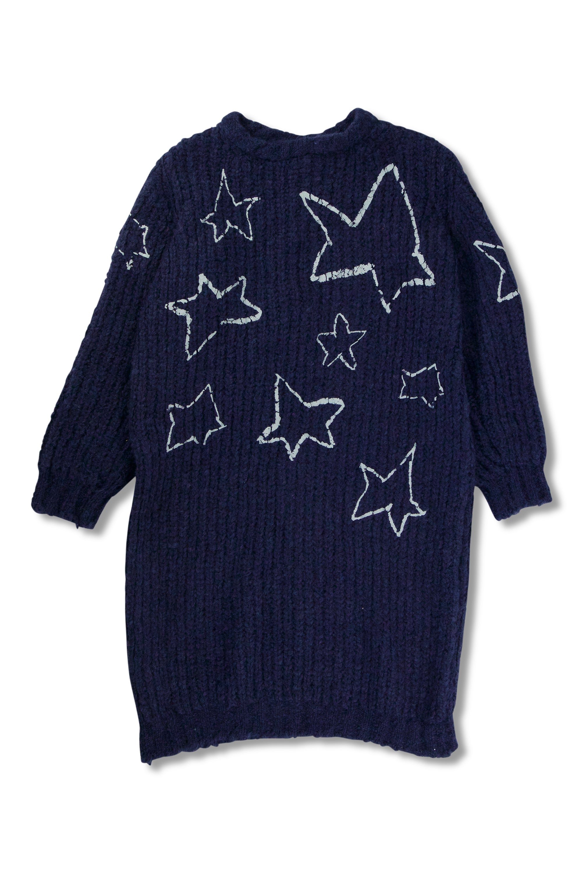Printed Star Mohair Long Jumper