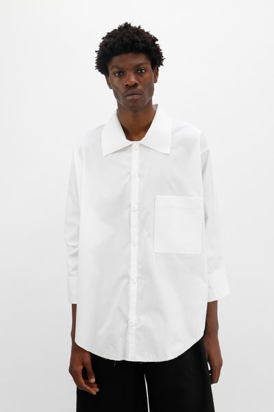 White Plain Pocket Shirt 02-50m London