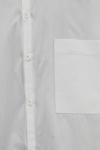 White Plain Pocket Shirt 02