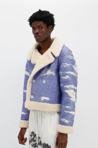 Distressed Faux Shearling Jacket