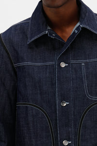 Contrast Stitch Denim Jacket Indigo