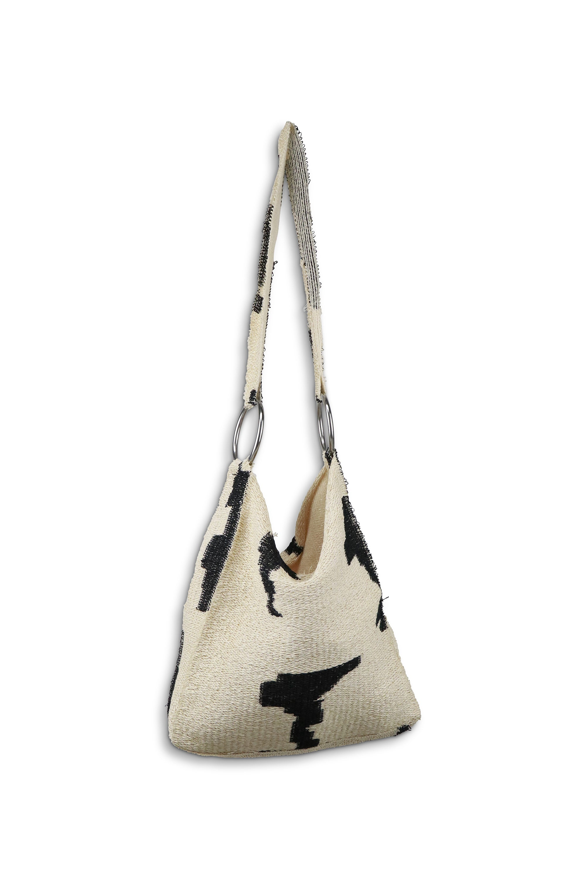 Patterned Raffia Bag