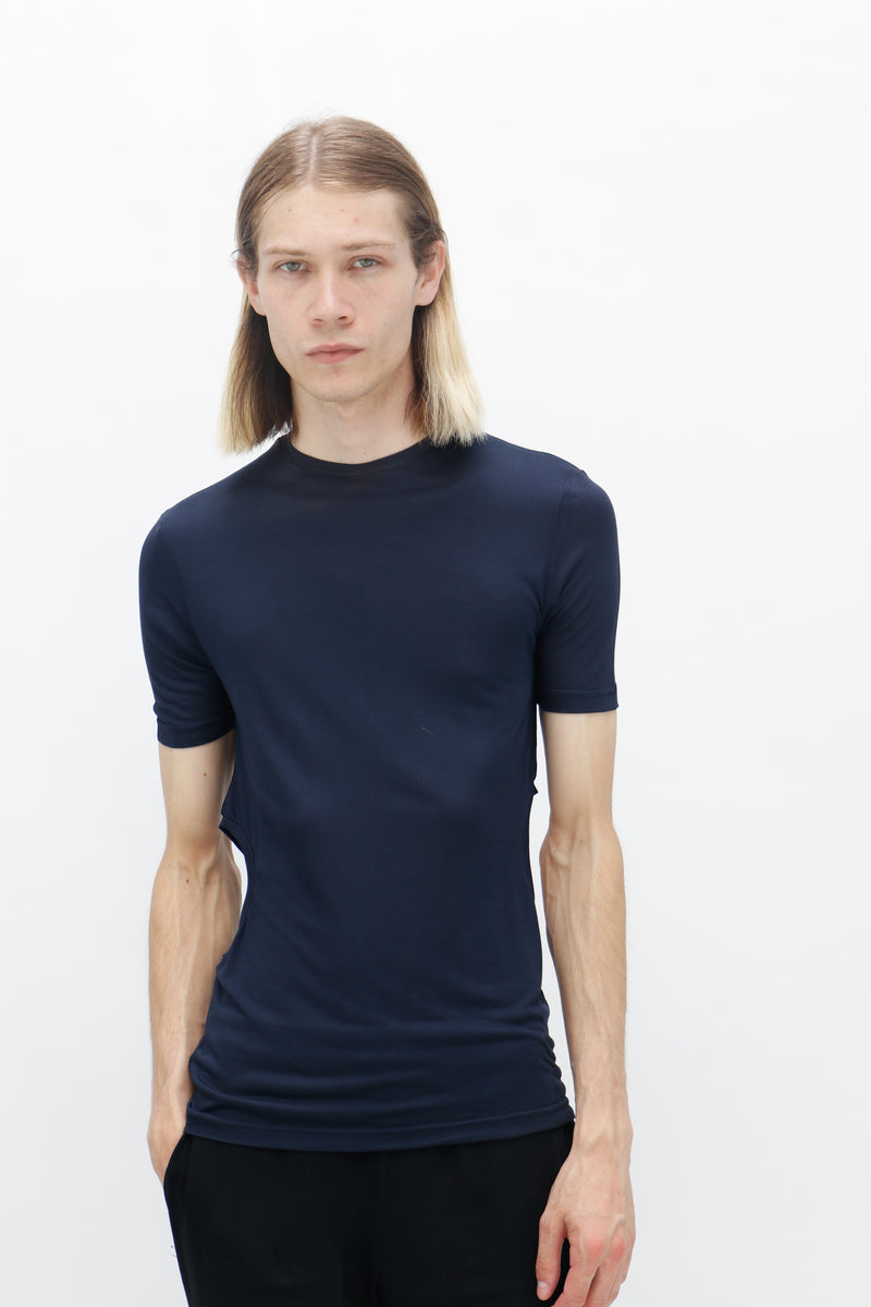 Navy Raglan sleeve T-Shirt