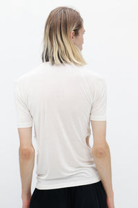 White Raglan sleeve T-Shirt