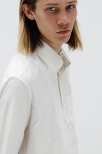Viscose Bound Edge Ivory Shirt