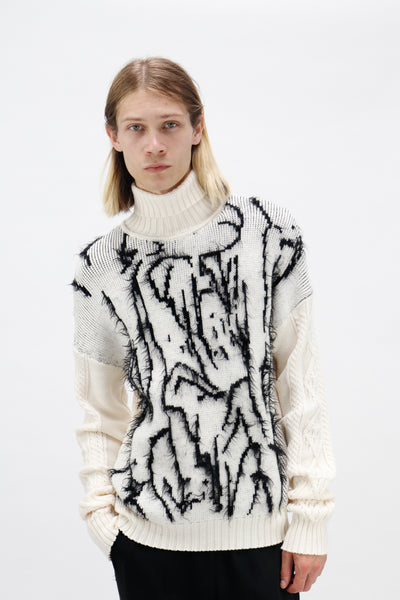 Messy Boy Jacquard Jumper