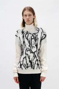 Messy Boy Jacquard Jumper-50m London