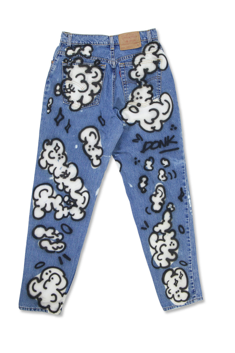 Donk Levi's Cloud Painted Jeans